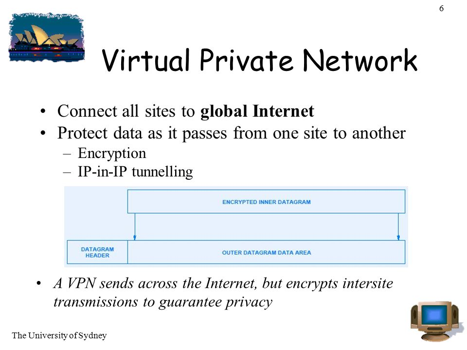 The University of Sydney 37 Tunnelling tunnels: IPv6 internets can tunnel IPv6 packets over IPv4 networks, short-term –IPv6 carried as payload in IPv4 datagram among IPv4 routers