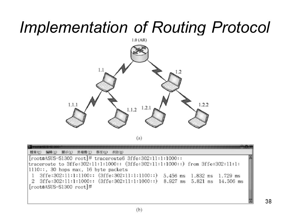 38 Implementation of Routing Protocol