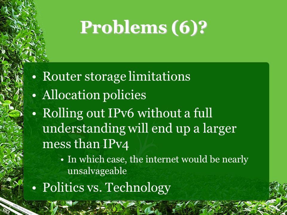 Problems (6).