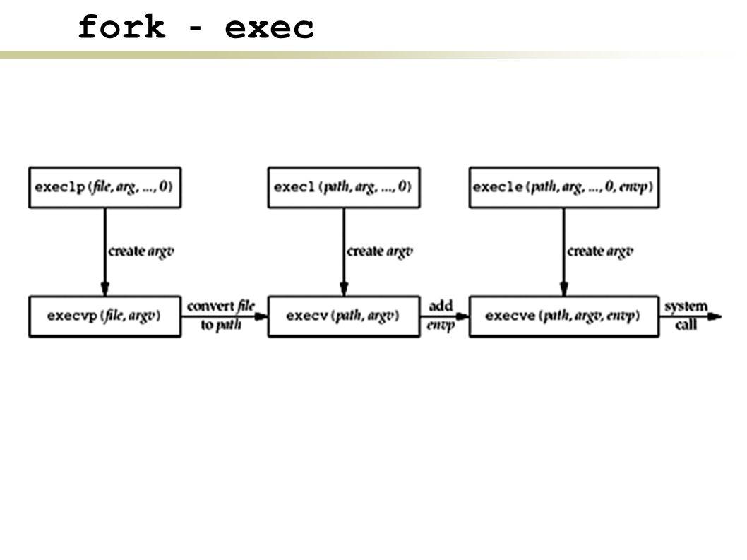 fork - exec