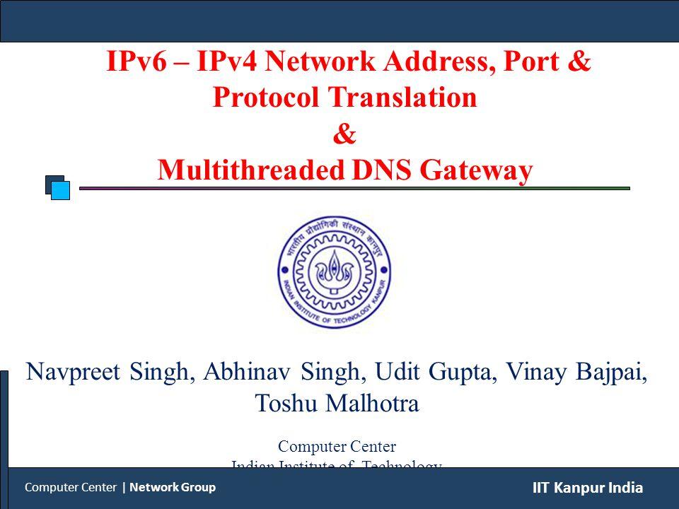 IPv6 client sends AAAA query to DNS gateway.
