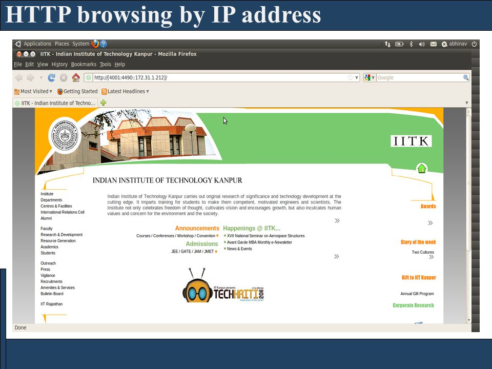 HTTP browsing by IP address