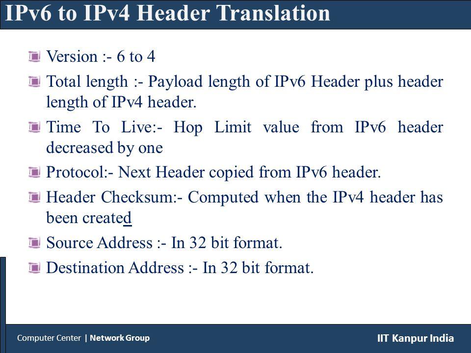 Version :- 4 to 6 Payload length:- Total length of IPv4 header minus IPv4 header length.