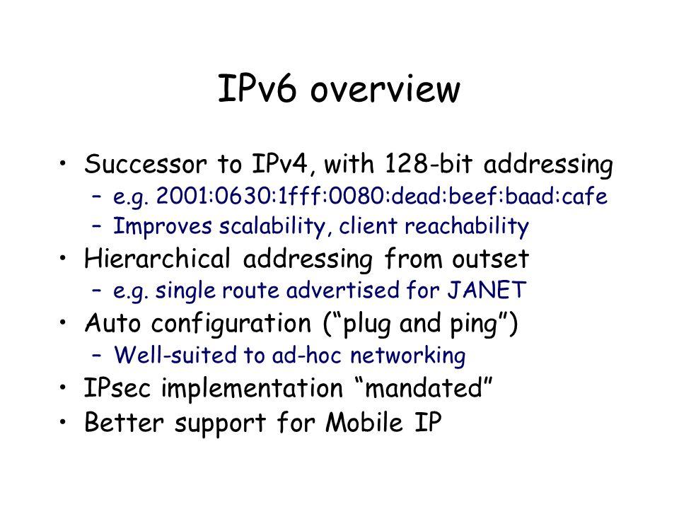 Why university/HE interest.IPv6 is deploying elsewhere, esp.