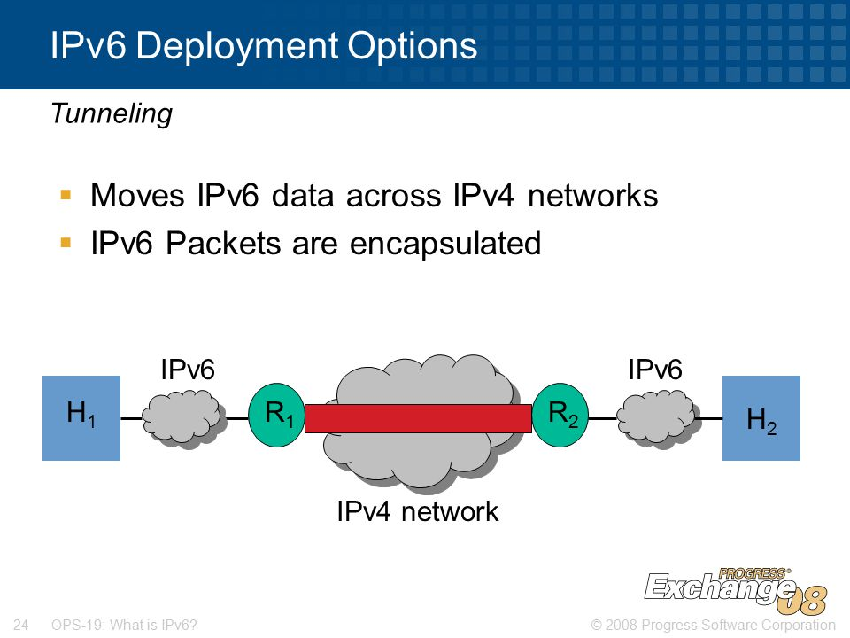 © 2008 Progress Software Corporation24 OPS-19: What is IPv6.