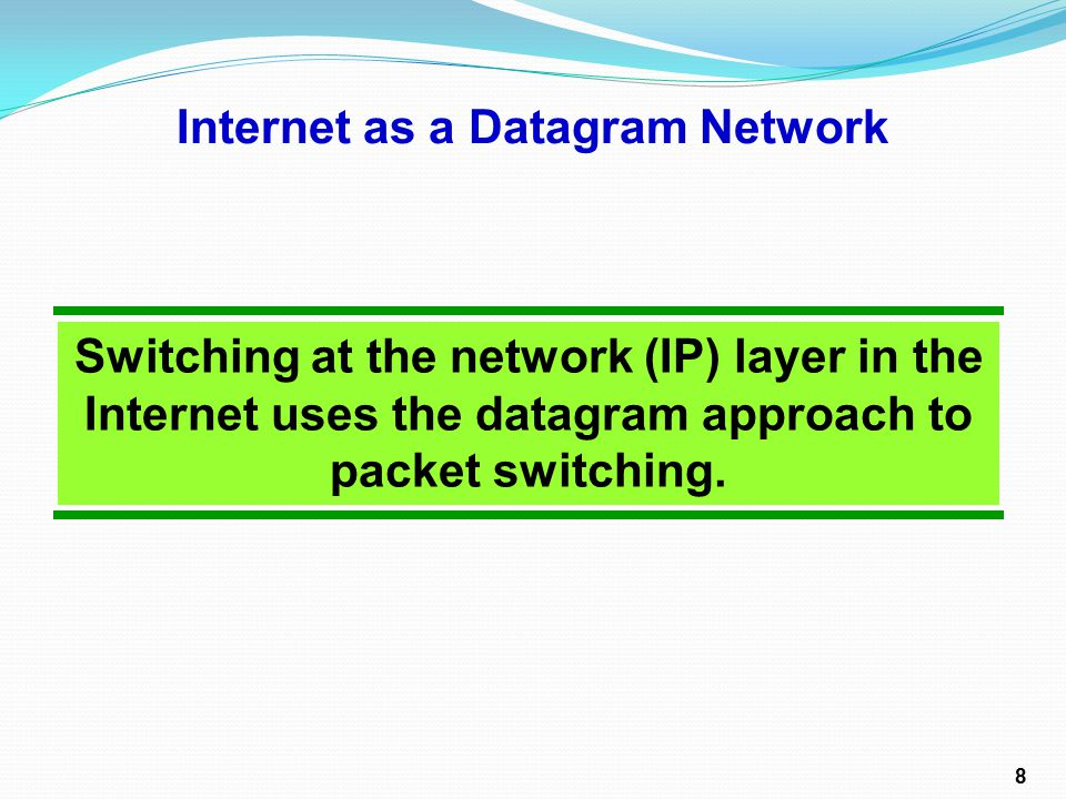 Communication at the network (IP) layer in the Internet is connectionless.