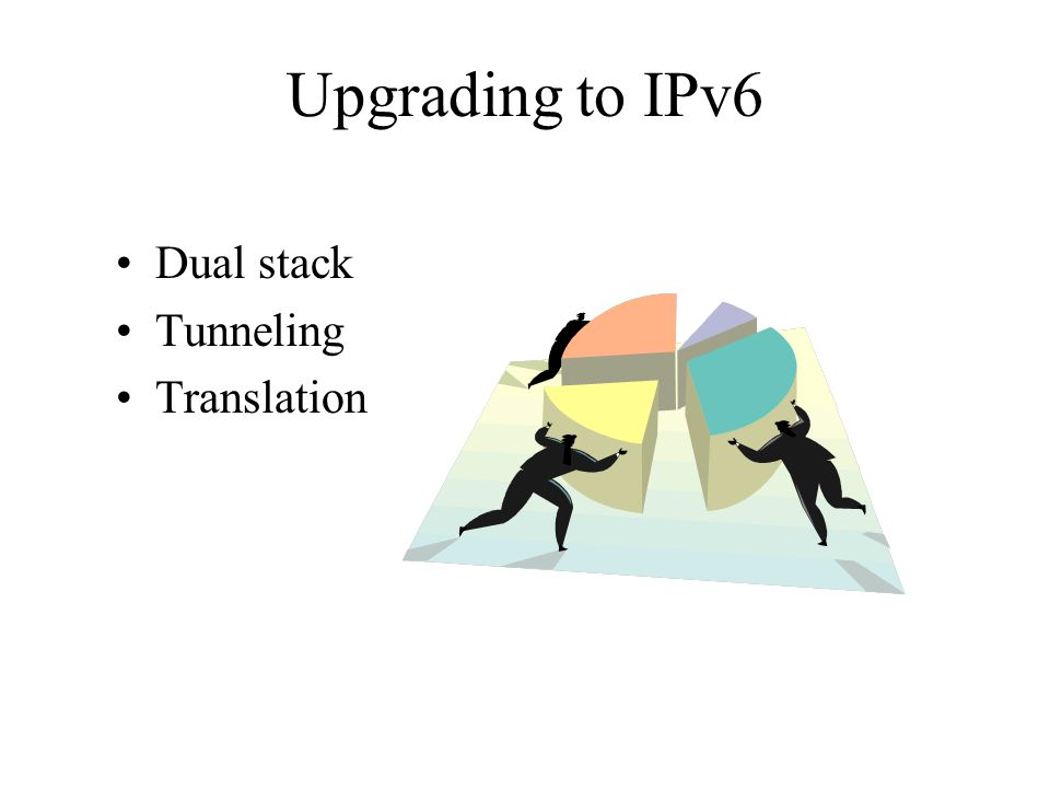 Upgrading to IPv6 Dual stack Tunneling Translation