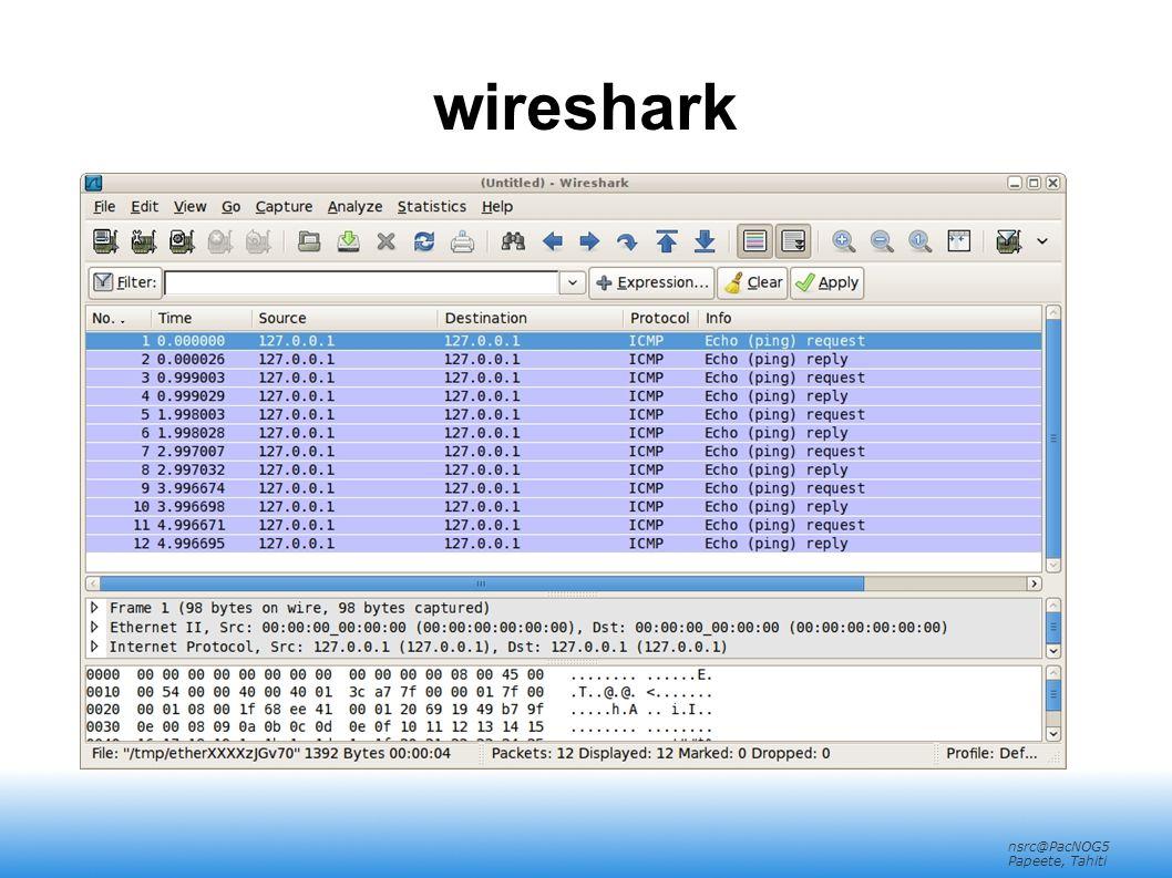 nsrc@PacNOG5 Papeete, Tahiti wireshark