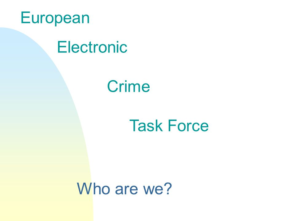 European Electronic Crime Task Force Who are we