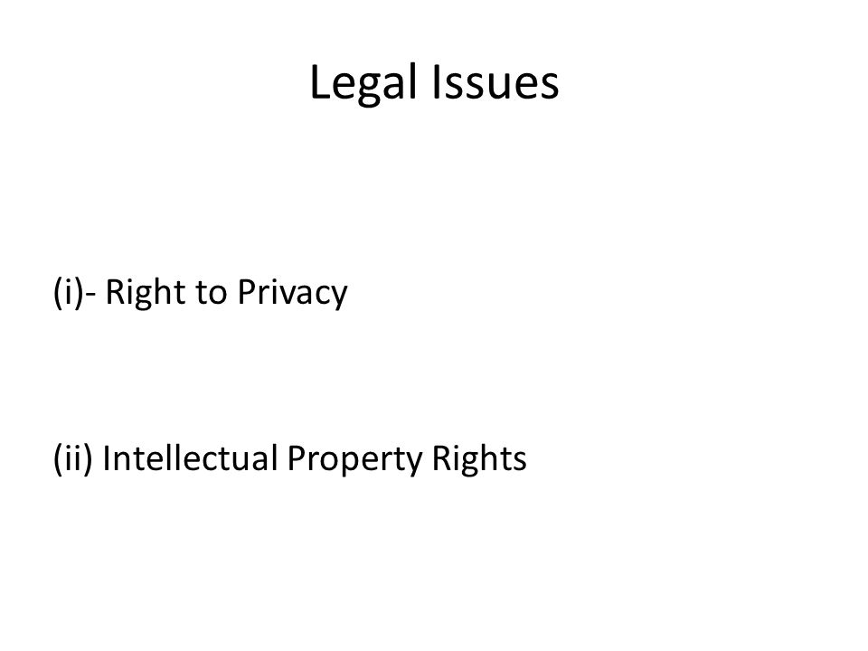 Legal Foundation of the right to Privacy (i)Articles 7&8-EU Charter on Fundammental Rights (ii)Council of Europe's 1981 Convention for protection of Individuals –Re Automatic Processing of Data