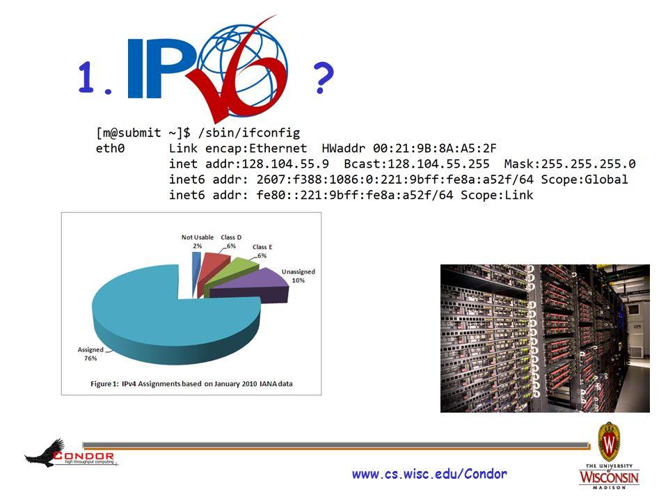 www.cs.wisc.edu/Condor What is IPv6.