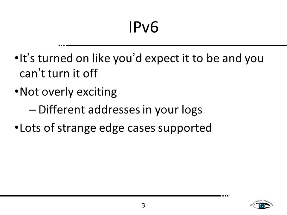 Tunnels Everyone has tunnels – Even if you don't know it Most tunnels are for locally enabling IPv6 on end hosts 4