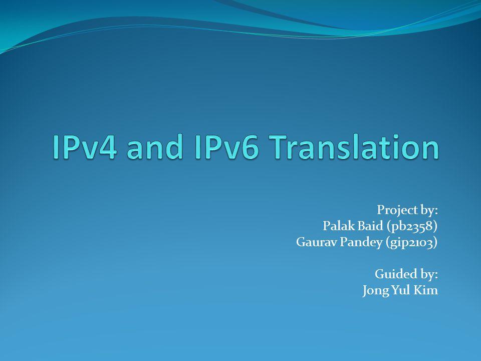 Project by: Palak Baid (pb2358) Gaurav Pandey (gip2103) Guided by: Jong Yul Kim