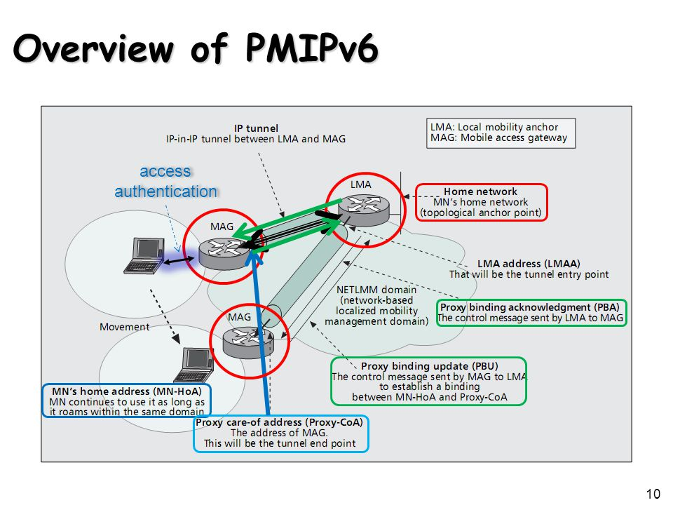 Overview of PMIPv6 10 access authentication