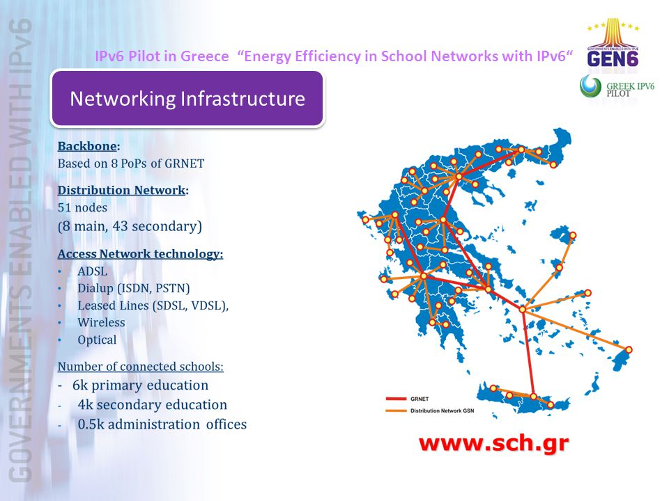 IPv6 Pilot in Greece Energy Efficiency in School Networks with IPv6 Networking Infrastructure