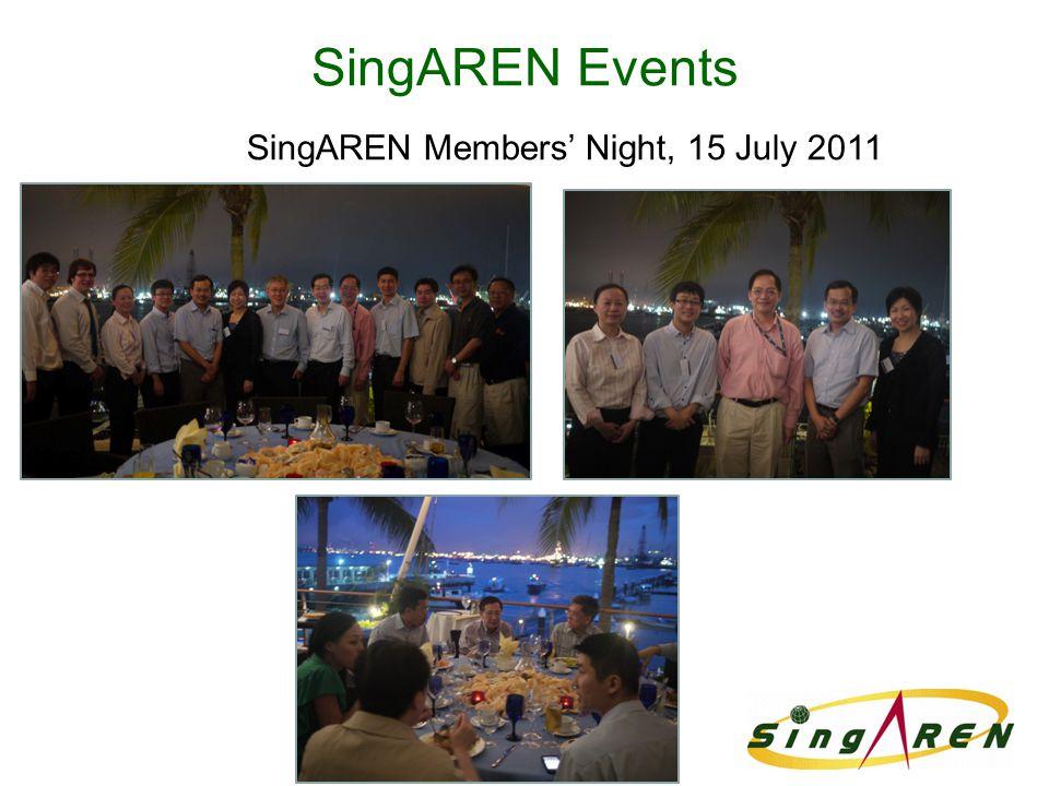 SingAREN Events SingAREN Members' Night, 15 July 2011