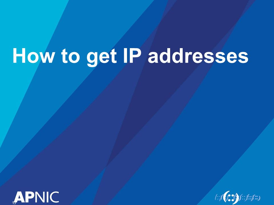 How to get IP addresses 13