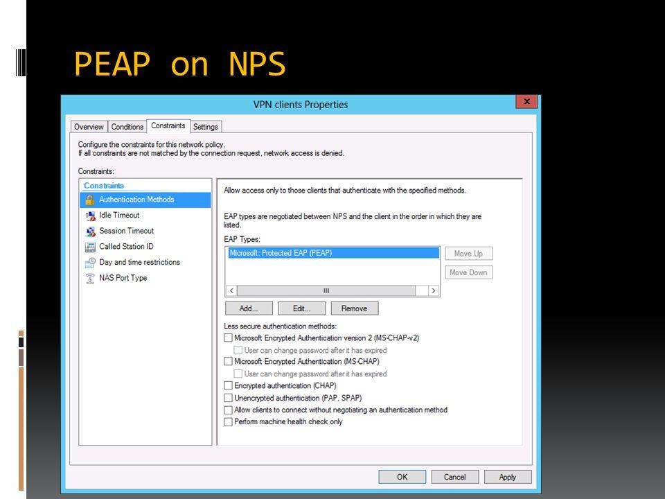 PEAP on NPS