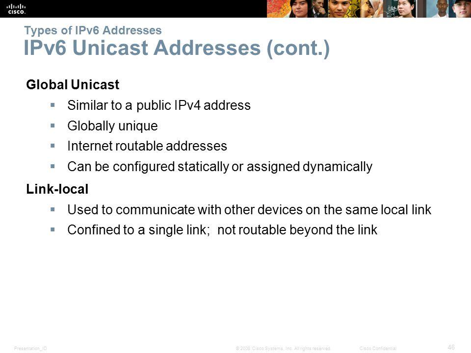 Presentation_ID 46 © 2008 Cisco Systems, Inc.