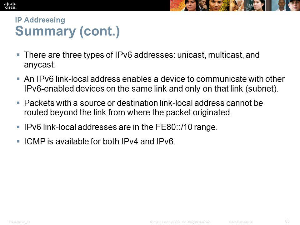 Presentation_ID 80 © 2008 Cisco Systems, Inc.