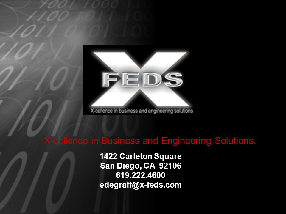 X-cellence in Business and Engineering Solutions.