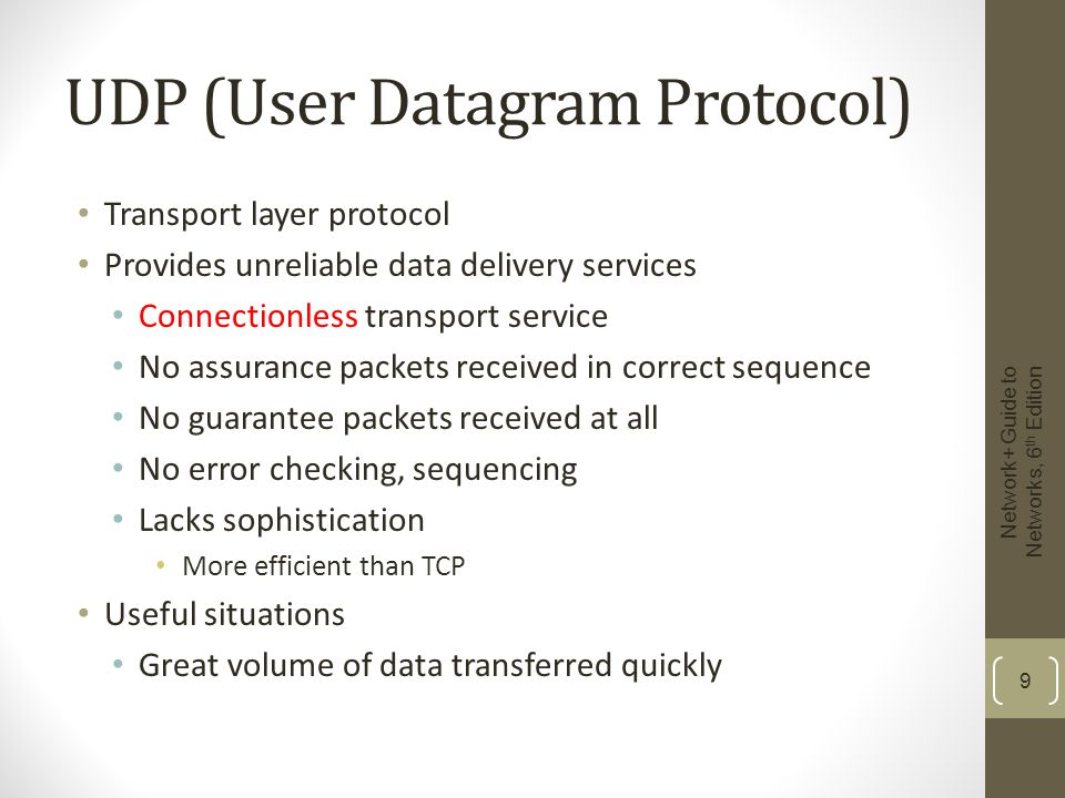 10 Figure 4-5 A UDP segment Courtesy Course Technology/Cengage Learning