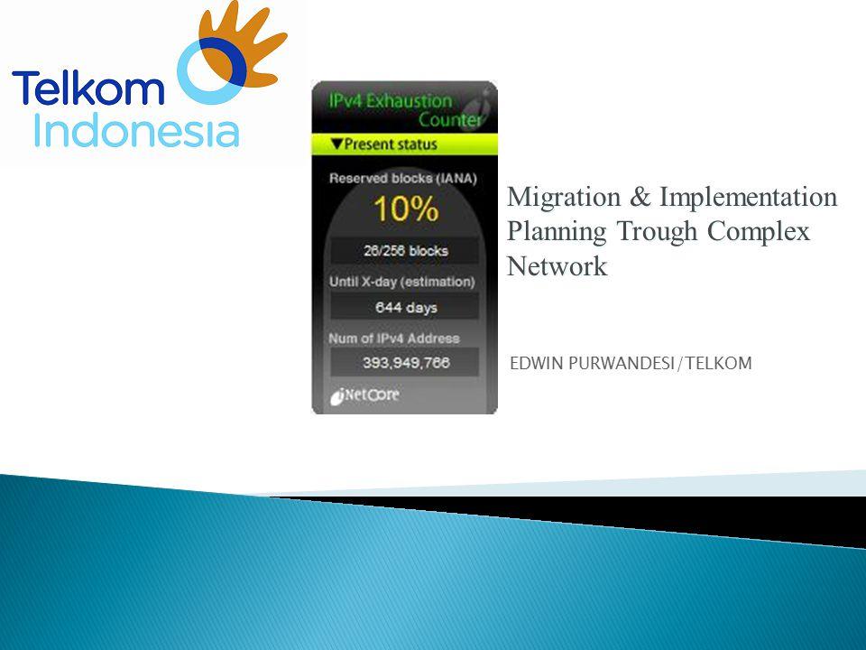 Migration & Implementation Planning Trough Complex Network EDWIN PURWANDESI/TELKOM