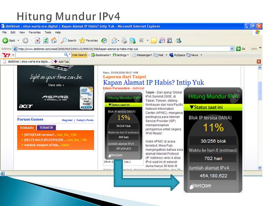 Hitung Mundur IPv4