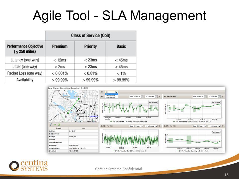 Centina Systems Confidential Agile Tool - SLA Management 13