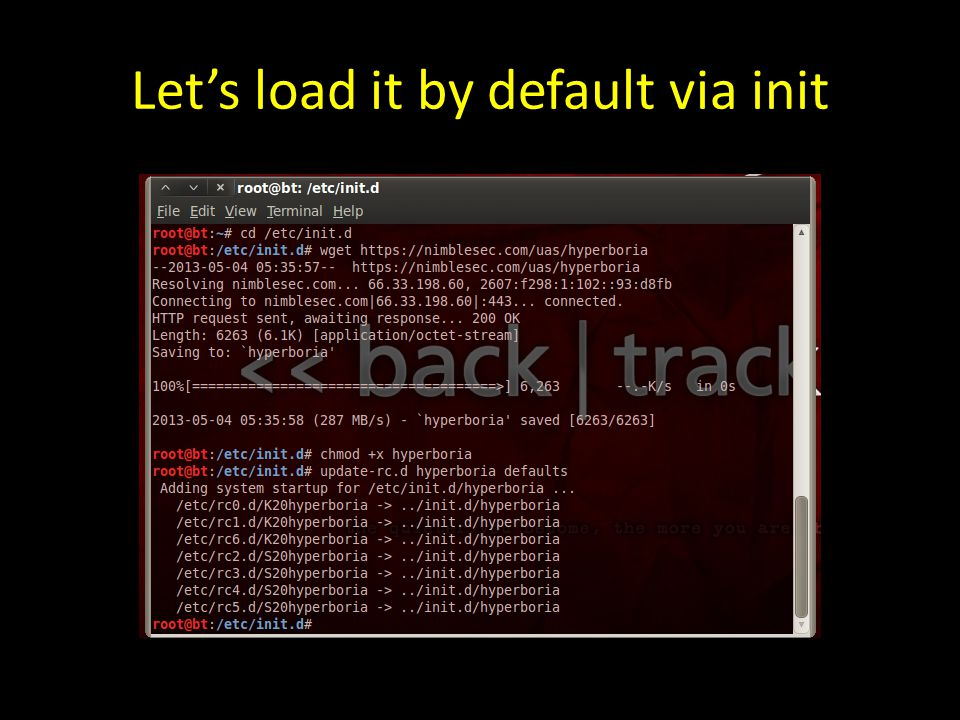 Let's load it by default via init