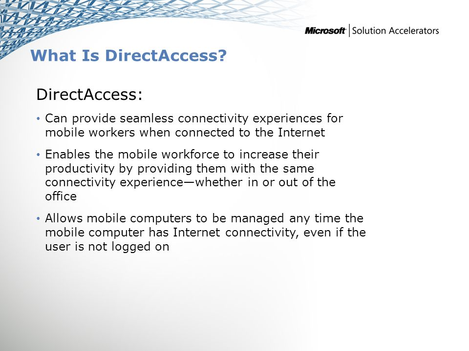 Find More Information Download the full document and other IPD guides: www.microsoft.com/ipd Contact the IPD team: ipdfdbk@microsoft.com Access the Microsoft Solution Accelerators website: www.microsoft.com/technet/SolutionAccelerators