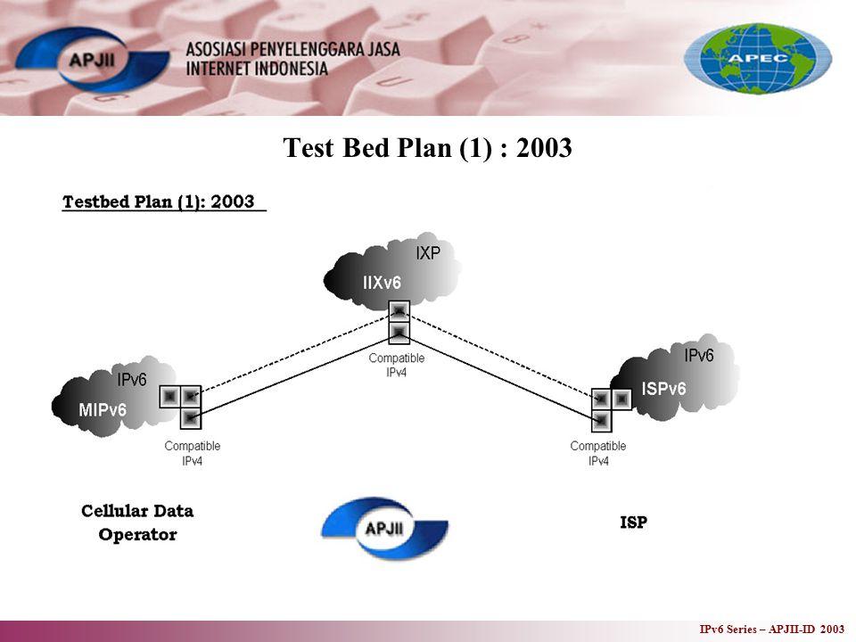 IPv6 Series – APJII-ID 2003 Test Bed Plan (1) : 2003