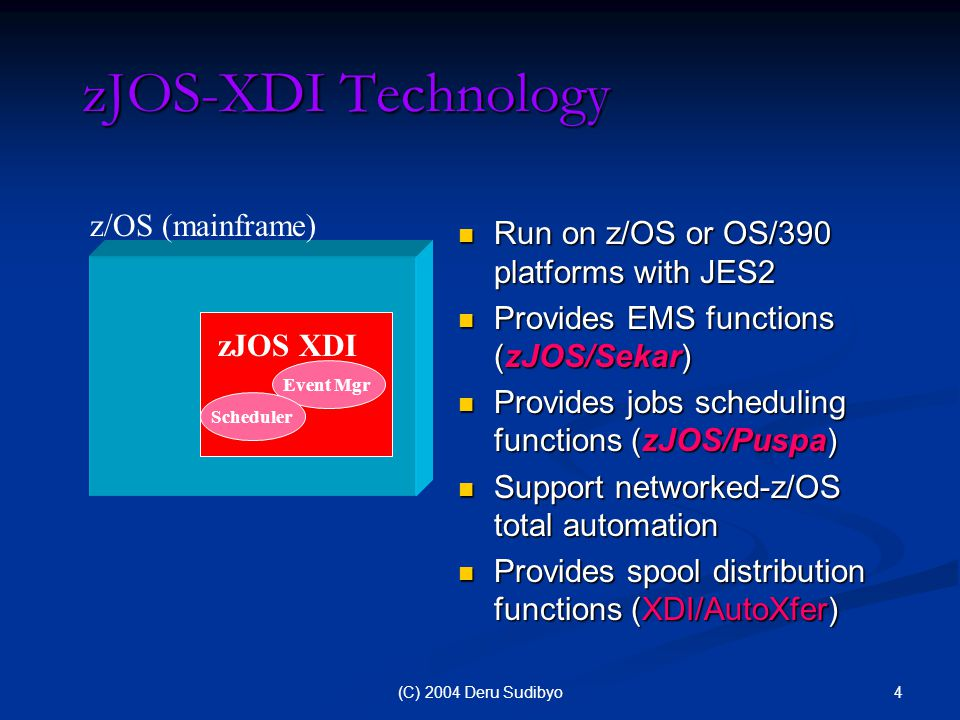 15(C) 2004 Deru Sudibyo XDI Spool Distribution Solution XDI/AutoXfer – Spool Distribution Solution: XDI/AutoXfer – Spool Distribution Solution: Facilitates users to define distribution parameters which include destinations and recipients, and spool files selection criteria.