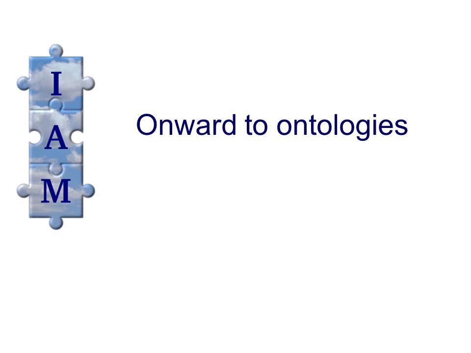 Onward to ontologies