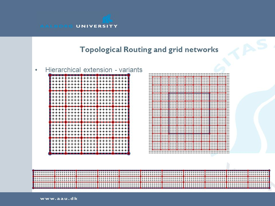 Topological Routing and grid networks Hierarchical extension - variants