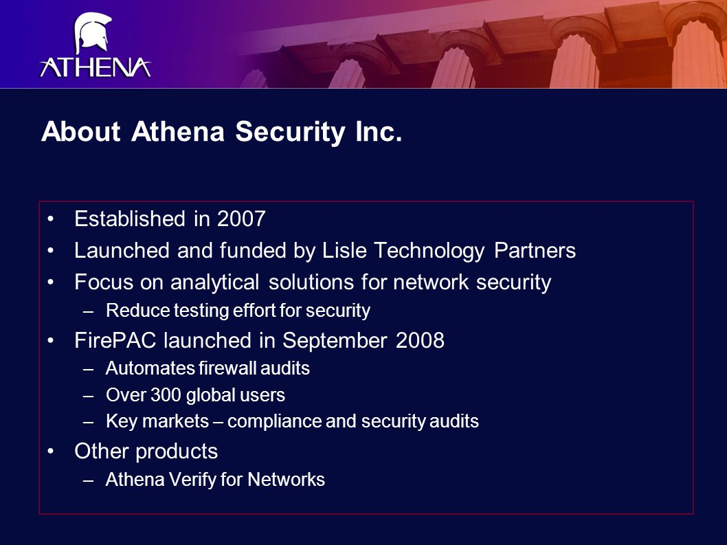 About Athena Security Inc.