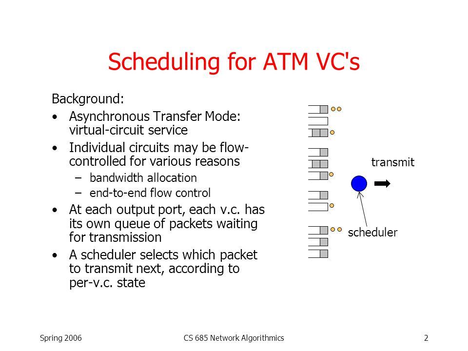 Spring 2006CS 685 Network Algorithmics13 Passive Monitor Solution Src = 12:34:56:78:9A:BC SrcID = 99:98:1B Dest = 12:34:56:78:9A:BC DestID = 01:22:FE CounterID = 99:98:1B:01:22:FE Counter = 322