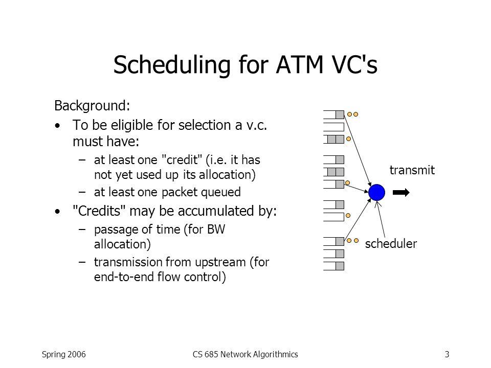 Spring 2006CS 685 Network Algorithmics14 Refinement I Set of active source-destination pairs changes over time.