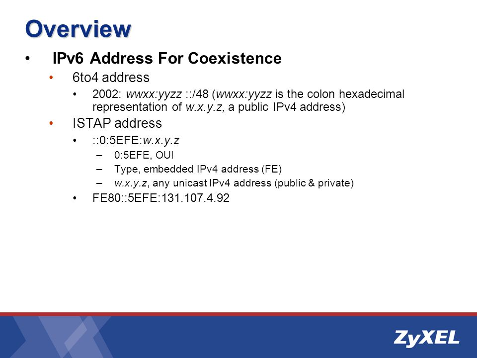 Overview Coexistence Mechanism Dual IP layer