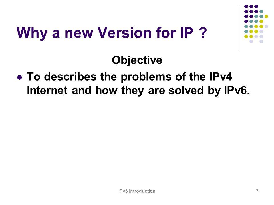 IPv6 Introduction 23 2.