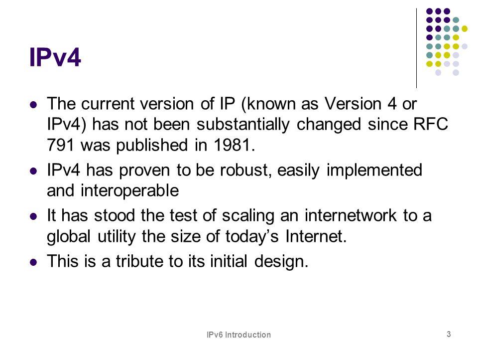 IPv6 Introduction 24 3.
