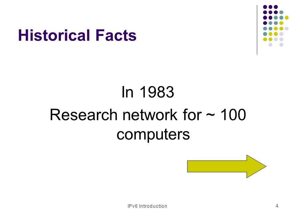 IPv6 Introduction 15 ASN Assignments RIRs to LIRs/ISPs Cumulative Total (Jan 1999 – Jun 2007)
