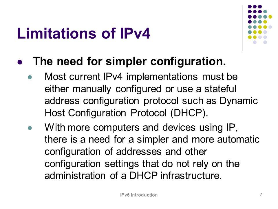 IPv6 Introduction 28 History of IPv6