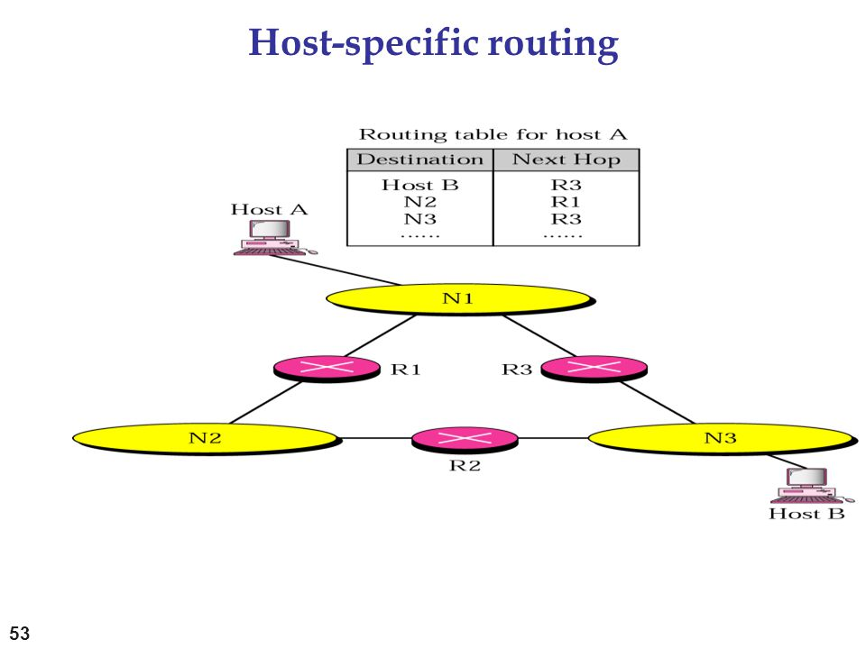 Host-specific routing 53