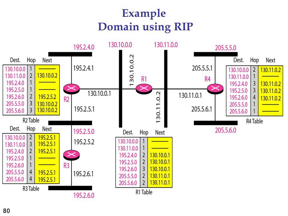 Example Domain using RIP 80