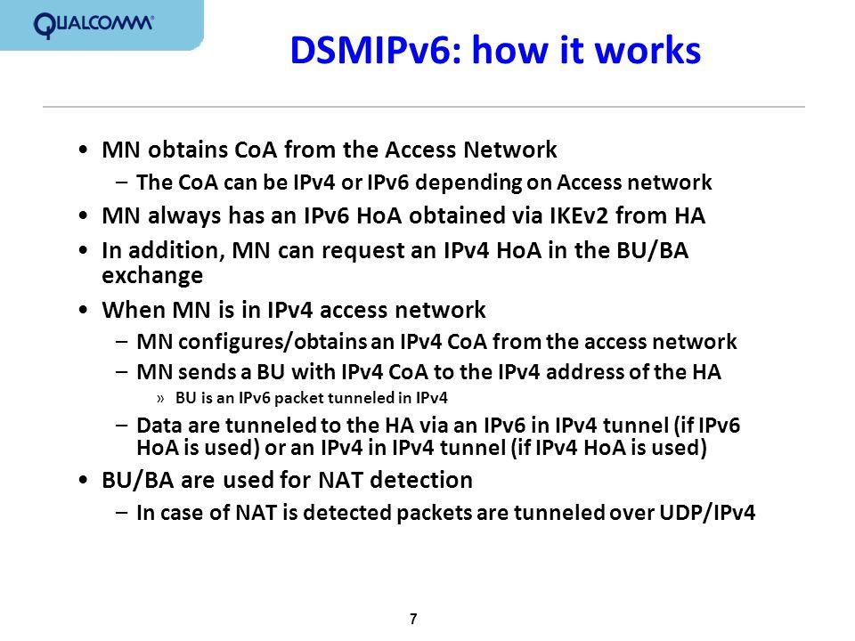 8 DSMIP6 Call Flow