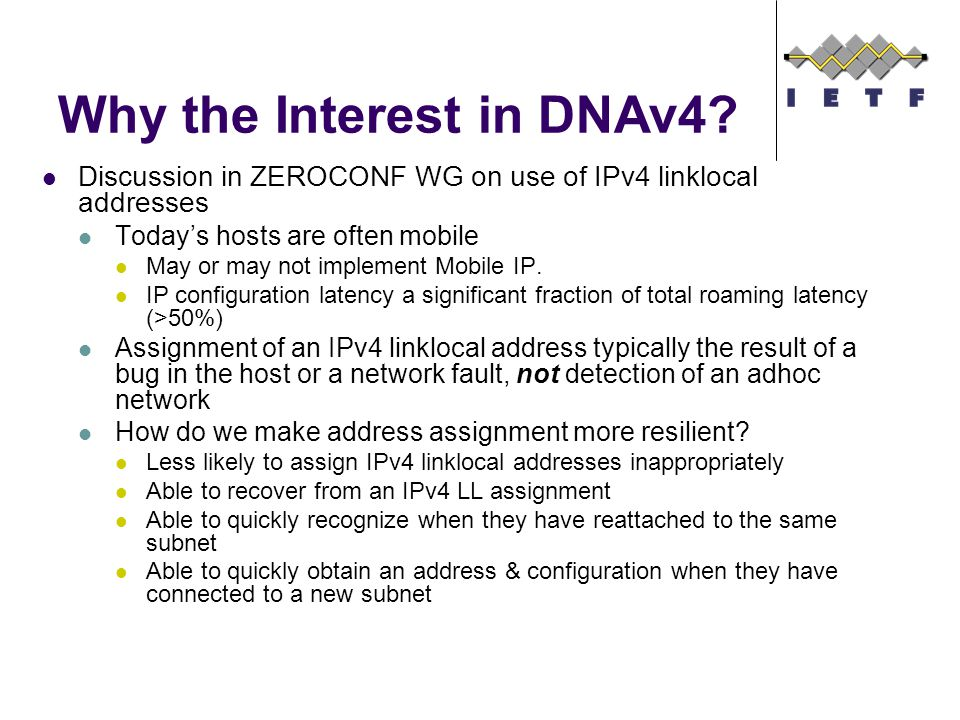 Why the Interest in DNAv4.
