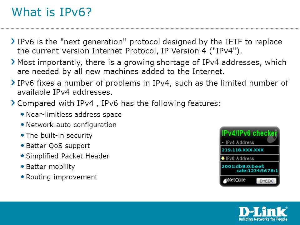 IPv6 is the