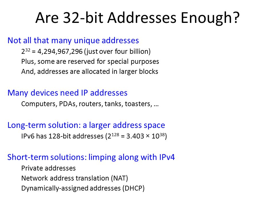 Are 32-bit Addresses Enough.