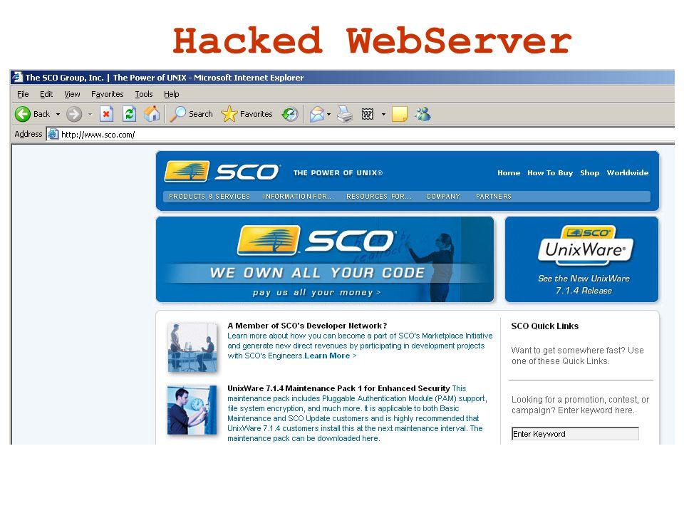 Hacked WebServer